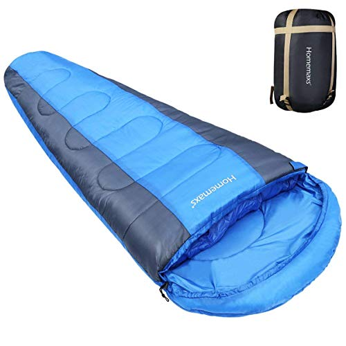 HOMEMAXS Sleeping Bags for Adults Hiking Sleeping Bag Lightweight Compact Mummy Sleeping Bags for Camping Backpacking 350GSM