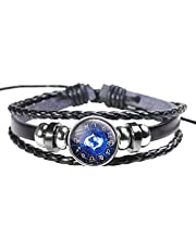 Horoscope Zodiac Western Astrology Pisces Wristband bracelet braided leather glow light in dark