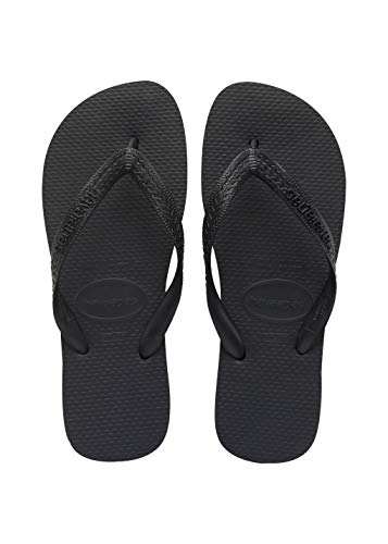 Havaianas Women's Top Flip Flop Sandal,Black, 39/40 BR(9-10 M US Women's / 8 M US Men's)