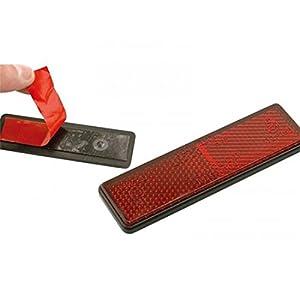 Catadioptre rectangulaire rouge 91 x 25 - Bihr 449522