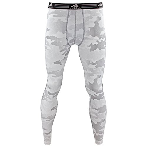 Adidas Mens Baselayer Climalite Pant with Upf, White Data Camo Print, (Adidas Climacool Mens Pant)