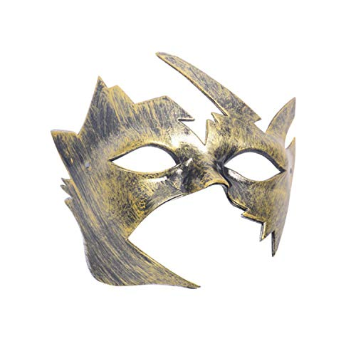 Vintage Sexy Men&Women Lace Masks Dance Party Mysterious Retro Masks Half Face Masquerade Mask for Halloween Festival Supplies,Gold ()