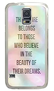 Samsung S5 silicone case Life Quotes Cute PC Transparent Custom Samsung Galaxy S5 Case Cover by supermalls
