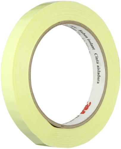 3M 1350F-1Y Yellow Electrical Tape, 1/2″ width x 72yd length (1 roll)