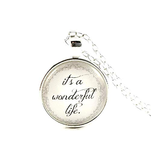 Its A Wonderful Life Movie Gift Necklace Classic Christmas Gift Exchange Ideas Stocking Stuffers
