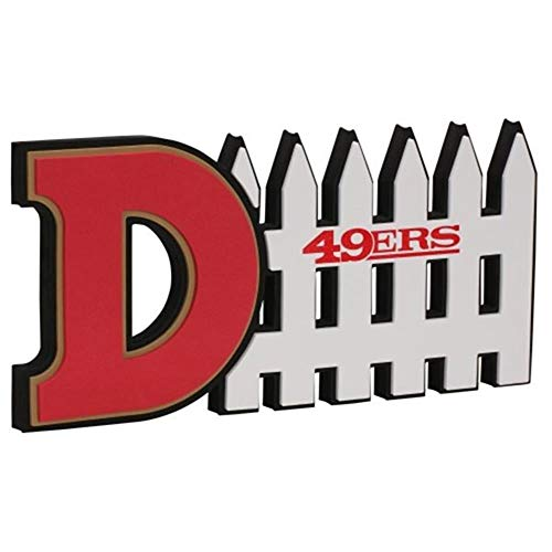 NFL San Francisco 49Ers 3D Foam D-Fence Sign, Red