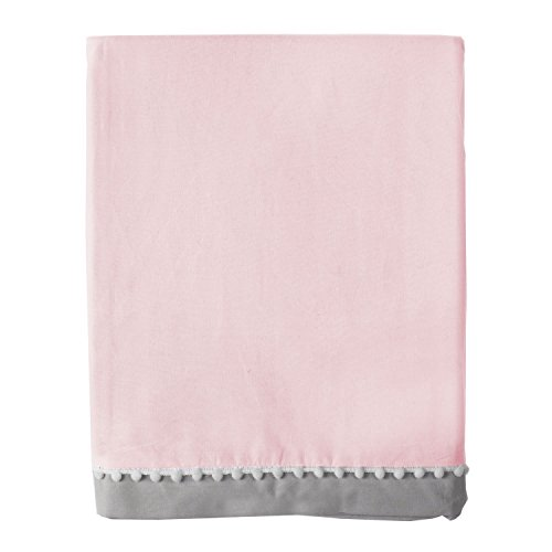 Living Textiles Bed Skirt, Pink/Grey