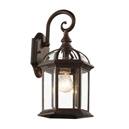 Outdoor wall mounted lights amazon trans globe lighting 4181 rt outdoor wentworth 1575 wall lantern rust aloadofball Images