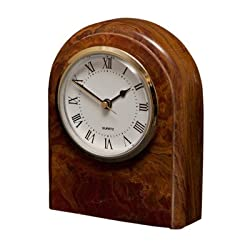 Polaris Clock - Saffron Brown Onyx