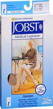 JOBST Medical LegWear Knee High 15-20 mmHg Opaque Medium Silky Beige 1 Pair (Pack of 3)