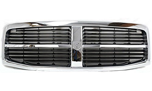 Part Car 04 Chrome Grill (Evan-Fischer EVA17772021829 Grille for Dodge Durango 04-06 Plastic Chrome Shell/Painted-Black Insert Replaces Partslink# CH1200274)