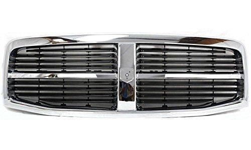 04 Grill Chrome Car Part (Evan-Fischer EVA17772021829 Grille for Dodge Durango 04-06 Plastic Chrome Shell/Painted-Black Insert Replaces Partslink# CH1200274)