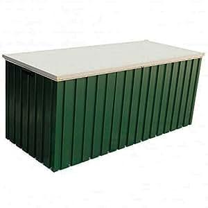 Verde esmeralda verde 4x 2metal al aire libre herramienta caja de cojín de acero solución de almacenamiento fácil de limpiar