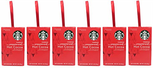 Starbucks Hot Cocoa Peppermint Box - 6 pack - Thinking of You - Special Day Gift For Him or (Make Peppermint Hot Chocolate)