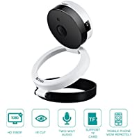 YELIN Wifi Home Camera 1080P Full HD IP Security Surveillance Camera with Alarm Two Way Audio Night Vision Support Micro/SD Card Monitor for Baby Seniors Pets