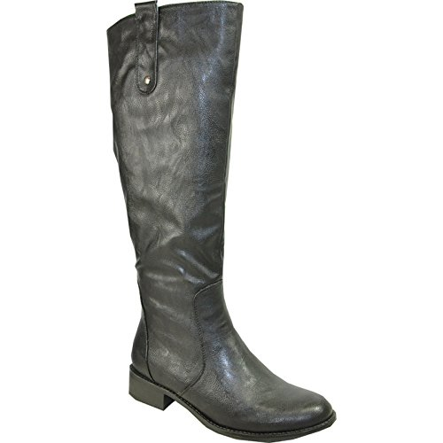 Kozi Women Riding Boot SD4505W Fur Lined Winter Boot With Wide Calf Black 39M
