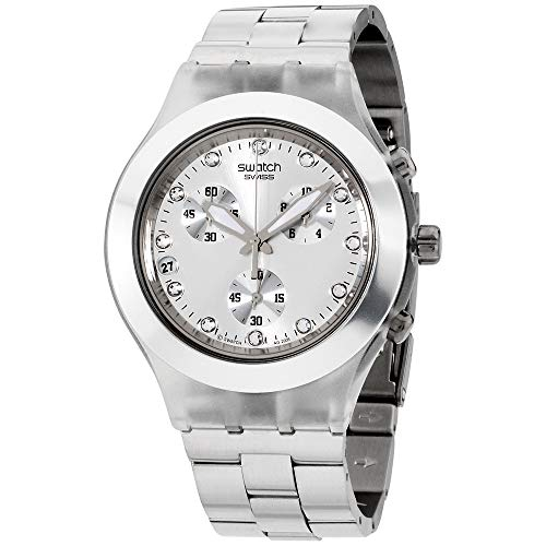 - Swatch Diaphane Chronograph Blooded Silver Mens Watch SVCK4038G