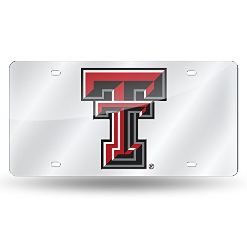 Rico Industries NCAA Texas Tech Red Raiders Laser Inlaid Metal License Plate Tag, ()