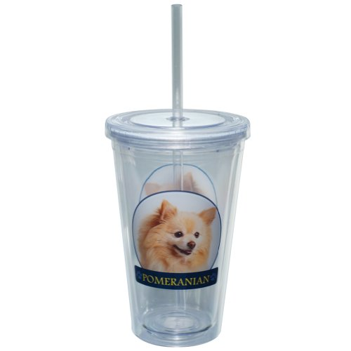 Little Gifts 16-Ounce Drink Cup, Pomeranian
