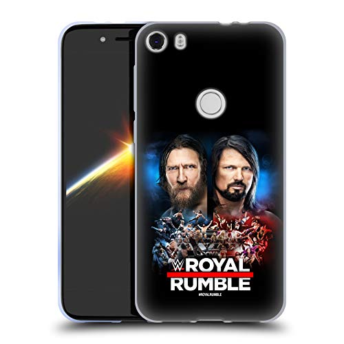 Official WWE Daniel Bryan and AJ Styles 2019 Royal Rumble Soft Gel Case Compatible for Alcatel Idol 5 (Daniel Bryan Case)