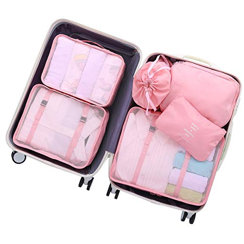 OEE 6 pcs Luggage Packing Organizers Packing Cubes Set for ()