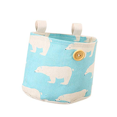 (angel3292 1 Pocket Flamingo Polar Bear Wall Wardrobe Hanging Bag Cosmetic Storage Pouch)