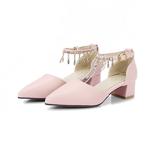 BalaMasa Womens Studded Structured Dress Urethane Sandals ASL04984 Pink vIiRguV