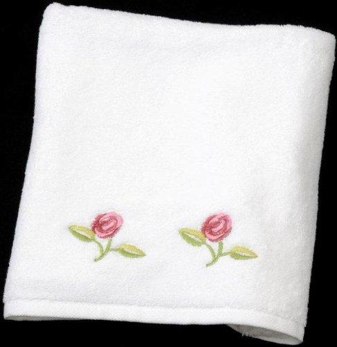Justina Claire Hand Towel in a Rennie Mack Pink Rose Design