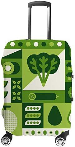 スーツケースカバー 野菜フルーツ 伸縮素材 キャリーバッグ お荷物カバ 保護 傷や汚れから守る ジッパー 水洗える 旅行 出張 S/M/L/XLサイズ