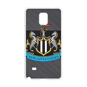 Newcastle United T8A4Oo Funda Samsung Galaxy Note 4 caja del teléfono celular Funda Caso de teléfono blanco S2M2HN fundas encargo de la moda