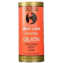 Great Lakes Gelatin Unflavored Beef Gelatin, Kosher, 16-Ounce, 454-Gram