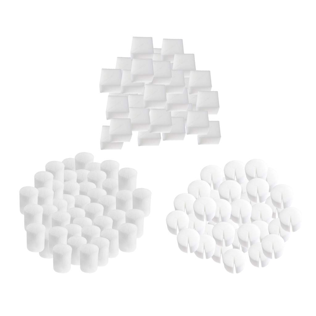 D DOLITY 50pcs Sponges Soilless Cultivation Plant Hydroponics Growing System Seed Starting Accessories 19 x 25mm