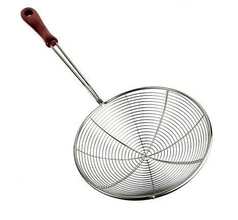 Espumadera de acero inoxidable colador, colador de acero ...
