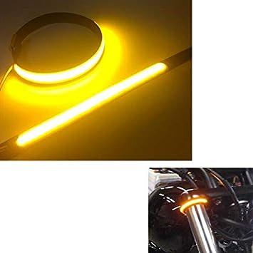 Motorcycle Moto Bike Front shock absorber LED Circular Turn Signal Light Strip
