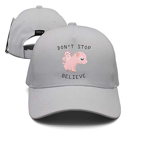 GlyndaHoa Believe Flying Pig Unisex Baseball Cap Snapback Hip Hop Caps Fitted Sport Sun (Believe Flying Pig)