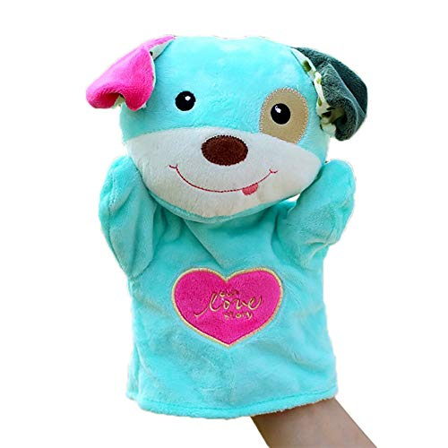 callm Hand Puppet,Finger Puppets,Kids Glove Hand Puppet Soft Plush Finger Toys Cute Cartoon Animal Doll Toys Cat/Dog/Duck/Bear (Dog)
