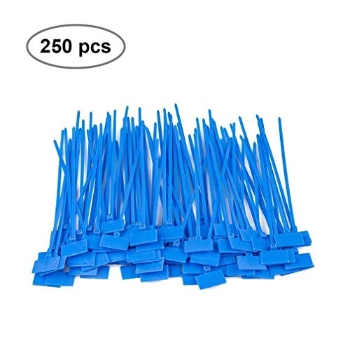 Zip Ties (250pcs) Self-Locking 5.9 Inch Nylon Marker Cable Ties Blue Cable Management for Tidying and Marking