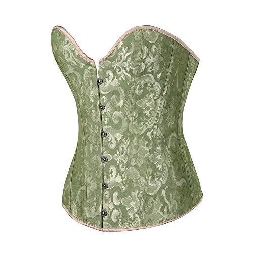 Valentine's Best Gifts!!! Jumberri Women Plus Size Shapewear-Sexy Underbust Lace Bow Bandage Slim Trainer Corsets Body Shaper (Lace Powernet Corset Slip)