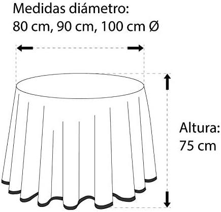 Martina Home Ribero - Falda para mesa camilla , Crudo, Redonda de ...