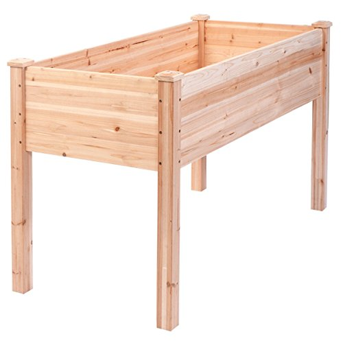 Imtinanz Modern Wooden Elevated Raised Vegetable Garden Bed