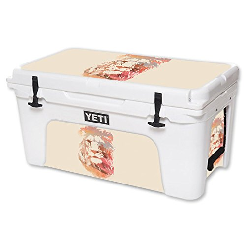 MightySkins Skin For YETI 65 qt Cooler - Desert Lion | Protective, Durable, and Unique Vinyl Decal wrap cover | Easy To Apply, Remove, and Change Styles | Made in the USA by MightySkins