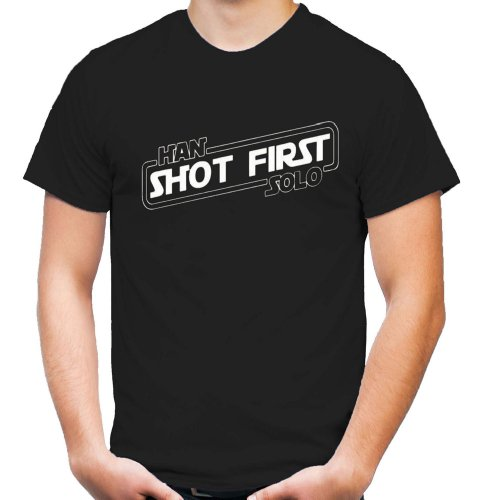 Han Shot first T-Shirt | Star Wars | Darth | Sith | Vader | Yoda | Männer | Herrn | Fun | Kult