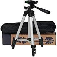 SAI ELLIN 3110 Portable and Foldable Camera Tripod with Mobile Clip Holder Bracket Stand with 3-Dimensional Head