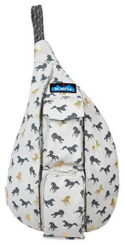 (KAVU Mini Rope Bag Cotton Crossbody Sling Backpack  - Wild)