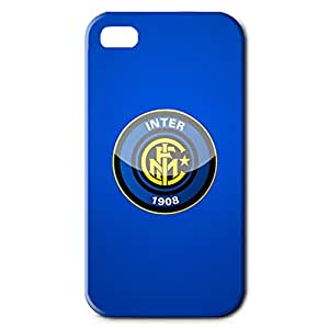 Inter Logo Phone Case for Iphone 4/4S 3D Hard Black Plastic Cover