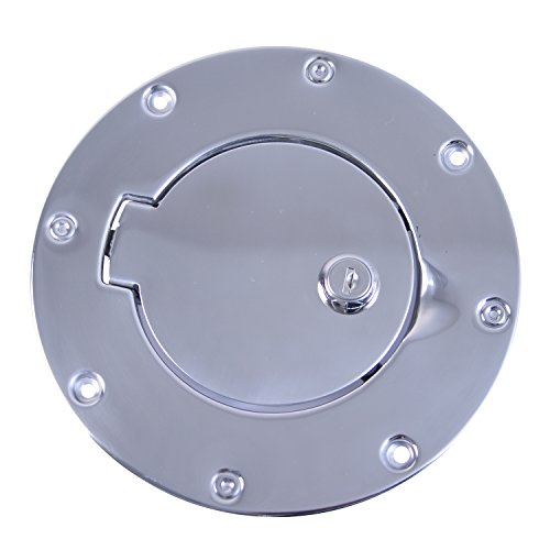 (Rugged Ridge 11134.04 Polished Stainless Steel Gas Door Cover)