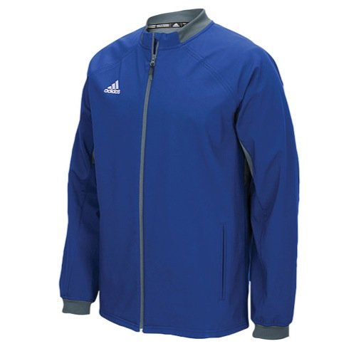 adidas Mens Climawarm Fielders Choice Full-Zip Warm Jacket Royal/Grey 2XL by adidas