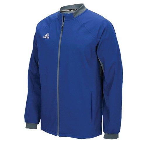 adidas Mens Climawarm Fielders Choice Full-Zip Warm Jacket Royal/Grey Xs