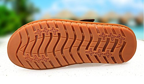 Xing Lin Sandalias De Hombre Sandalias De Verano De Hombres Baotou Sandalias Antideslizantes Casual Transpirable Carne Suede Zapatillas De Playa black