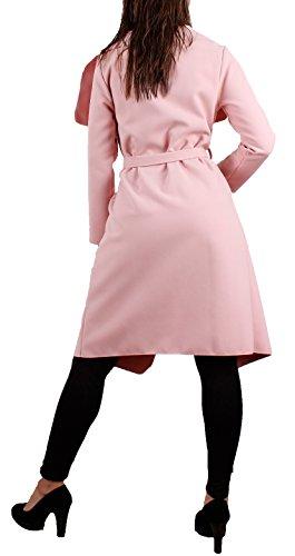 Antico donna lungo da cintura Rosa taglia Cappotto con unica c8TwqFv8xE